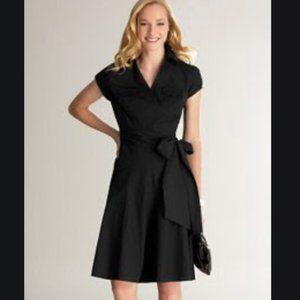 Ann Taylor Loft faux wrap shirt dress